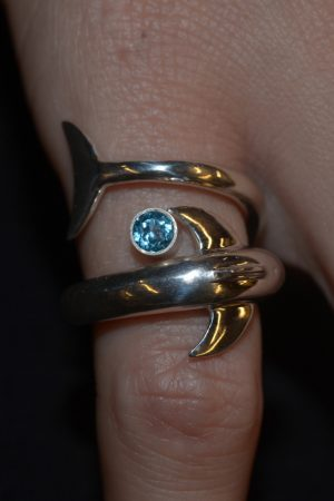 Nai'a ring with blue topaz